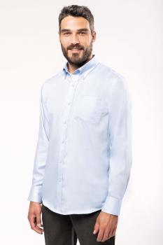 Pánská košile s dlouhým rukávem v nežehlivé úpravě - zvětšit obrázek