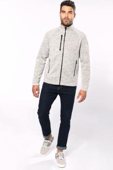Pánská bundová mikina Full zip heather jacket