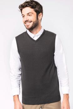 Pánská pletená vesta s výstřihem do V