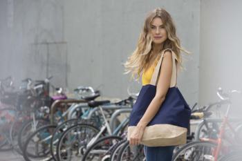 Nákupní taška z bavlny a juty