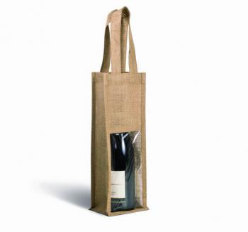 Jutová taška na víno - zvětšit obrázek