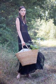 Ručně pletený košík