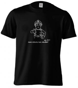 Pánské tričko - Jsem vždycky tam, kde hřeje slivovice.
