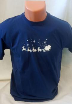 Unisex tričko - Sobí spřežení se sáňkami